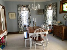 "Behr ""Alice White"" for a classic, yet cozy, dining room"