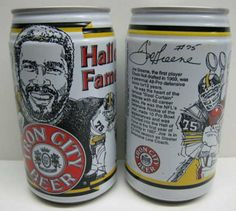 A Pittsburgh Steelers Football Beverage Cans - Joe Green Pitsburgh Steelers, Here We Go Steelers, Pittsburgh Steelers Football, Pittsburgh Pa, Iron City Beer, Rod Woodson, Chuck Noll, Troy Polamalu, Steeler Nation