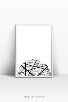Brush Stripes Poster, Abstract Minimalist Circle Art, Clean Wall Print, Black Stripe, Round White Prints, Straight Ink Lines, Line Artwork. by ExplicitDesign on Etsy https://www.etsy.com/uk/listing/501891270/brush-stripes-poster-abstract-minimalist