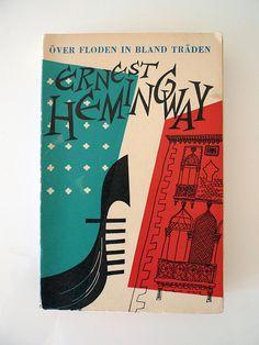 Ernest Hemingway book cover illustrated.
