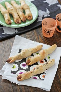 Witch Finger Breadsticks 2014 Halloween Finger Food Recipes - almonds, whole raw #2014 #Halloween