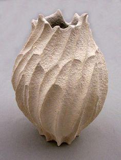 Elizabeth Shriver: Small Coral Pod Vase, 2011, Ceramic, 9 x 7 x 7 in.