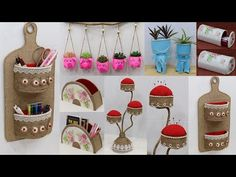 Jute Crafts, Recycled Crafts, Diy Crafts, Recycling, The Creator, Craft Ideas, Decoration, Holiday Decor, Amazing
