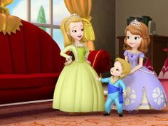 """""""Sofia the First"""" 1024by768 Desktop Wallpaper:  Amber, Baby James, and Sofia ..."""
