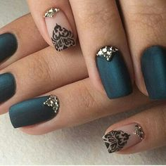Imagen de nails, art, and black