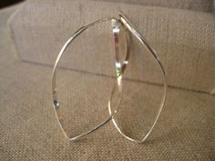 Twisted Oval Hoop - Wisteria Jewelry