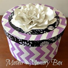 Purple Hues and Me: Foam Flower Mother's Day Memory Box DIY