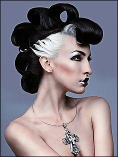 #black #white #hair