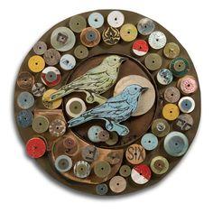 Songbird Collection ... original art assemblage. by Dolan Geiman