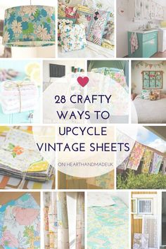 28-Crafty-Ways-To-Upcycle-Vintage-Sheets---Click-through-for-article