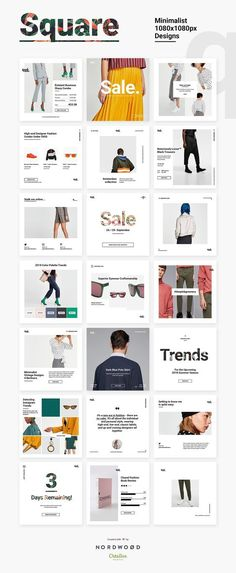 QUE – Fashion & Retail Social Media by NordWood on Creative Market – fashion editorial layout Social Media Branding, Social Media Ad, Social Media Banner, Social Media Template, Social Media Marketing, Social Campaign, Media Campaign, Brand Campaign, Marketing Strategies