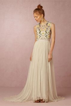 BHLDN Paulette Dress in  Bride Reception Dresses at BHLDN