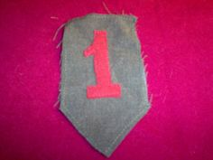"""World War I WW2  Officers US Army 1st Infantry Division Patch """"Big red one"""" AEF…"""