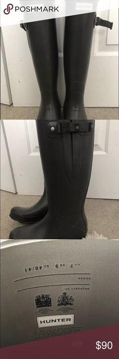 Hunter Boots Norris Field Side Adjustable Boots Size 9, color : Slate. Hunter Boots, Women's Norris Field Side Adjustable Rain Boots. Hardly worn, paid $149 from Dicks December 2016, now selling for $159 Hunter Shoes Winter & Rain Boots