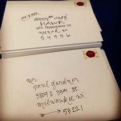 Wedding invitations - envelope calligraphy