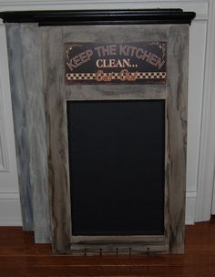 Chalk Board Kitchen Wall Decor Timeless and by HeirloomPropsDecor