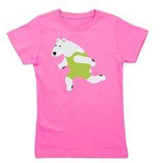 Polar Bear Runner Green Girl's Tee