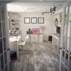 pιnтereѕт : @jenιιмarιee ♡ Home Office Space, Home Office Design, Home Office Decor, At Home Office Ideas, Modern Office Decor, Modern Room Decor, Office Furniture, Furniture Ideas, Living Room Decor Cozy