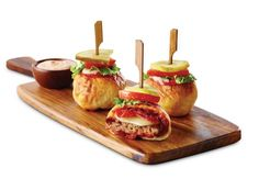Pizzaburger Sliders from Boston's Restaurant & Sports Bar