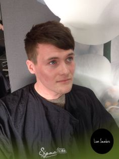 Men's hair 2014. short back and sides with disconnected fringe, massive for 2014.  Hair By Liam Saunders