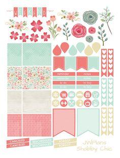 PRINTABLE Erin Condren Planner Shabby Chic by PricklyPearDesignCo