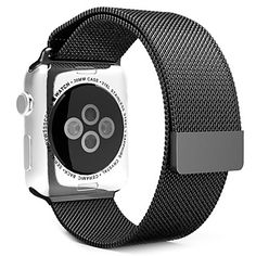Find best price for MoKo Apple Watch Band, Milanese Loop Stainless Steel Bracelet Smart Watch Strap for Apple Watch All Models with Unique Magnet Lock, No Buckle Needed - SILVER (Not Fit iWatch Version Apple Watch 42mm, Apple Watch For Sale, New Apple Watch Bands, Apple Watch Series 3, Smartwatch, Apple Inc, Stainless Steel Mesh, Stainless Steel Bracelet, Ipod