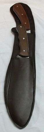 We custom make leather knife sheaths out of high quality leather.