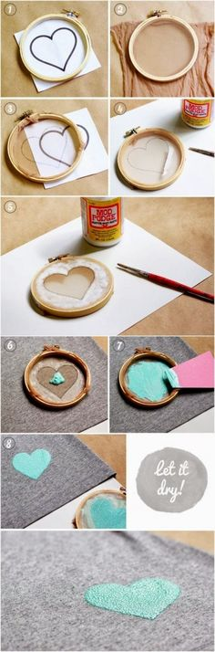 """""""How To: Screen Print Using Nylon Stockings  Clever #tutorial #diy #crafting"""""""