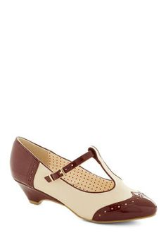 Care to Dance? Wedge in Wine, Bait, ModCloth