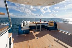 Cockpit on Blue By You, 50 Foot Azimut Magellano