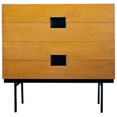 Rare birch DU Series 4 drawer dresser, designed by Cees Braakman for Pastoe | From a unique collection of antique and modern dressers at http://www.1stdibs.com/furniture/storage-case-pieces/dressers/