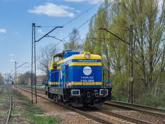 Trains and locomotives on polish rail line nr1.