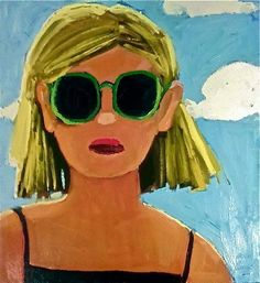 Green Sunglasses by Laura Loe