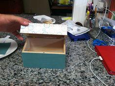 Decoupage recipe box