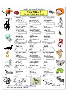 Risultati immagini per animal riddles with answers