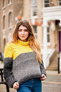 Tunisian Cable and Rib Sweater by Lindy Zubairy