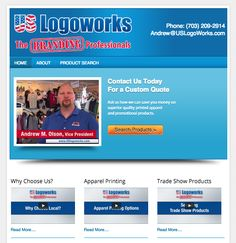 US Logoworks - new website for Manassas VA branch office of leading promotional products and printed apparel company serving clients throughout Northern Virginia and the metro DC region.