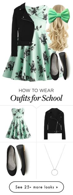 """""""School- Alexis"""" by clairitylim on Polyvore featuring Retrò, Equipment and Roberto Coin"""