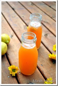 Peach Lemonade ~  made from fresh lemons and peaches.  So refreshing & yummy on a hot, summer day!