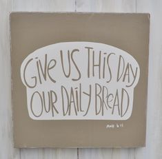 Cute basic plaque of Bible verse not to be forgotten perfect for the eat in kitchen.