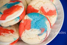 Fourth of July patriotic cookie sandwiches by bbrown