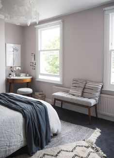 Soft blush pink bedroom reveal BEFORE + AFTER - Farrow & Ball Peignoir - Wes... Soft blush pink bedroom reveal BEFORE + AFTER - Farrow & Ball Peignoir - West Elm mid-century furniture http://tyoff.com/soft-blush-pink-bedroom-reveal-before-after-farrow-ball-peignoir-wes-2/