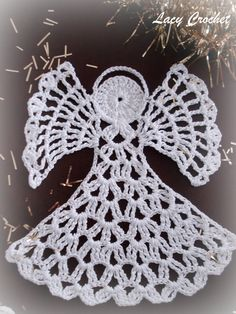 Christmas angel ornament  - free crochet pattern. Description from pinterest.com. I searched for this on bing.com/images