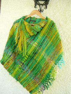 Rilmu Handwoven Wool Poncho by lorenaferreira on Etsy, $278.00