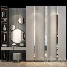 Wardrobe Door Designs, Wardrobe Doors, Bedroom Bed Design, Bedroom Decor, Wall Decor, Wall Panel Design, Wall Panelling, Entry Wall, Decorative Wall Panels