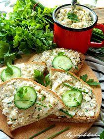 My simple kitchen: Pasta z gotowanego kurczaka Appetizer Salads, Appetizer Recipes, Appetisers, Food Design, Fresh Rolls, Avocado Toast, Lunch Box, Healthy Recipes, Healthy Food