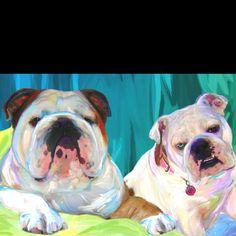 Bulldog art...by www.artpaw.com