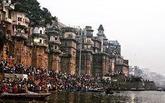 #varanasi #chattpuja #ghat #ganga #kashi #banaras #benares Rishikesh, Varanasi, India Travel, Temple, Times Square, Beautiful Places, Heaven, Street View, City
