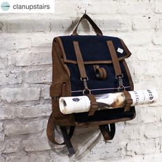 Hey guys, we're coming!!   Regram @clanupstairs Milan!  ・・・ The perfect backpack @kjoreproject #clanupstairs #italy #italia #milan #milano #kjore #handmade #survey #evolution #backpack #men #ss16 #natural #denim #canvas #kjore #style #streetwear #accessories #casual #love #minimal #design