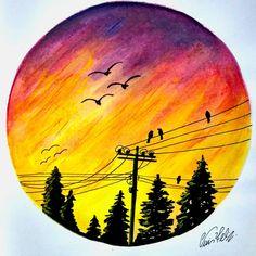 Sad Drawings, Acrylic Pouring Art, Coloured Pencils, Tumblr Wallpaper, Landscape Art, Love Art, Fantasy Art, Artsy, Fan Art